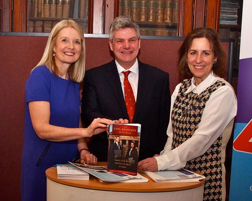 The civil advocacy book launch with Bridget McCann, Ronald E Conway and Kirsty Wark.
