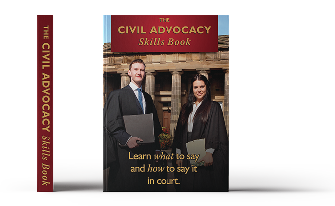 Concann - The Civil Advocacy Skills Book, side and front view.